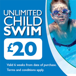 Unlimited child swim promo